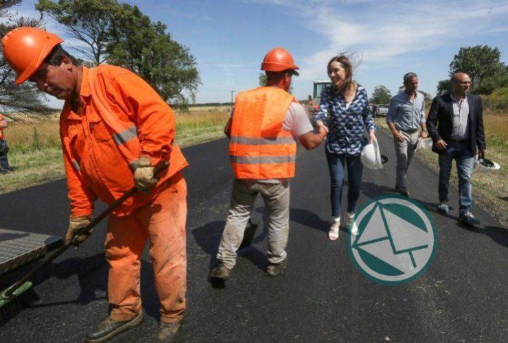 Vidal caminó por la obras viales de la RP Nº29 en Balcarce1