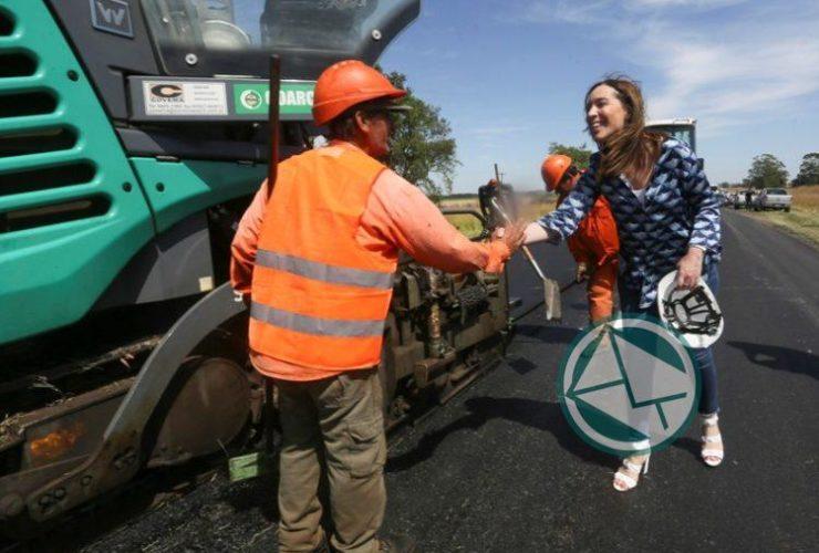 Vidal caminó por la obras viales de la RP Nº29 en Balcarce2