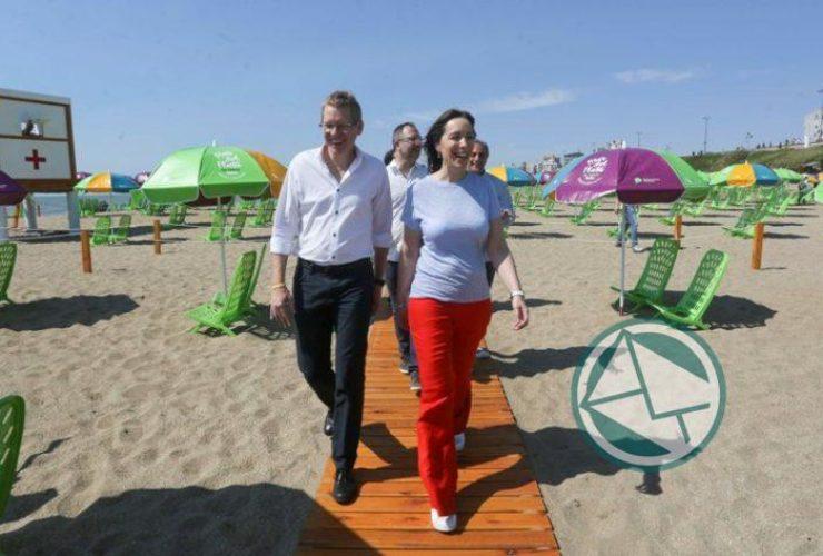 Vidal presentó en Mar del Plata las playas gratuitas1