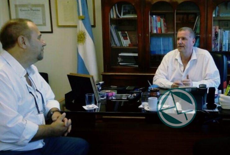 Con el subsecretario de Seguridad del Interior Gerardo Milman se juntaron Topich y Dagorret 2