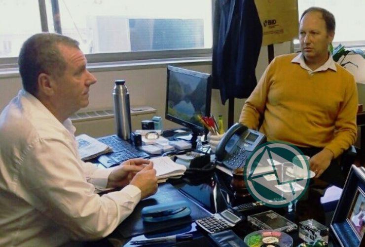 Con el subsecretario de Seguridad del Interior Gerardo Milman se juntaron Topich y Dagorret 3