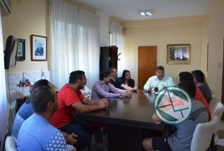Reunión del intendente Nedela con el Club Zona Nacional 01