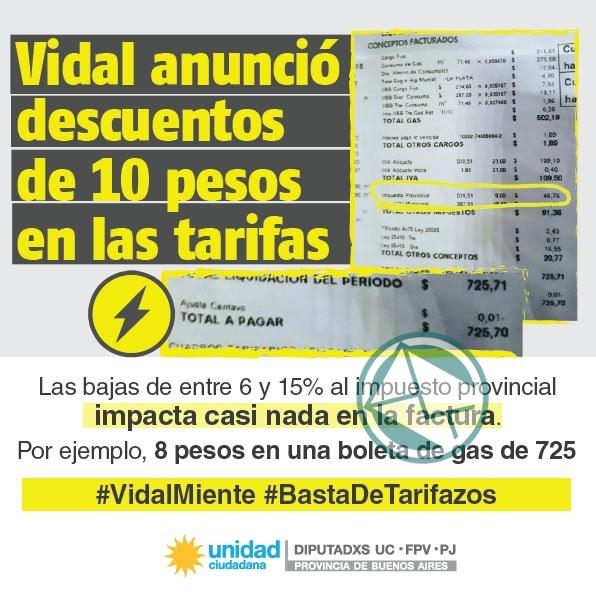 Rebajas de Vidal son una estafa Unidad Ciudadana2