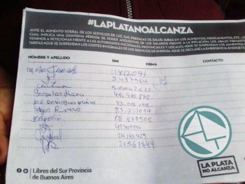 firmas contra el tarifazo 5