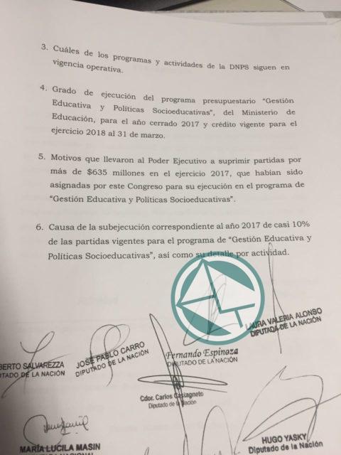 pedido de informe CAJ y CAI 02