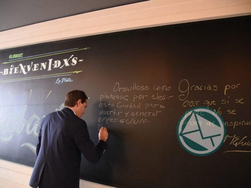 Vidal pasó por La Plata y estuvo en una empresa de software 2
