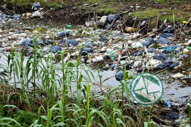 Limpiaron el canal de Avenida 66 de bolsas de resíduos 3