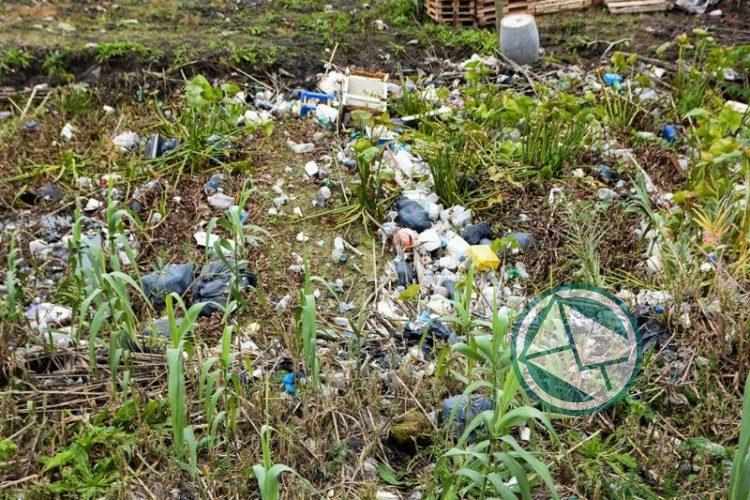 Limpiaron el canal de Avenida 66 de bolsas de resíduos 4