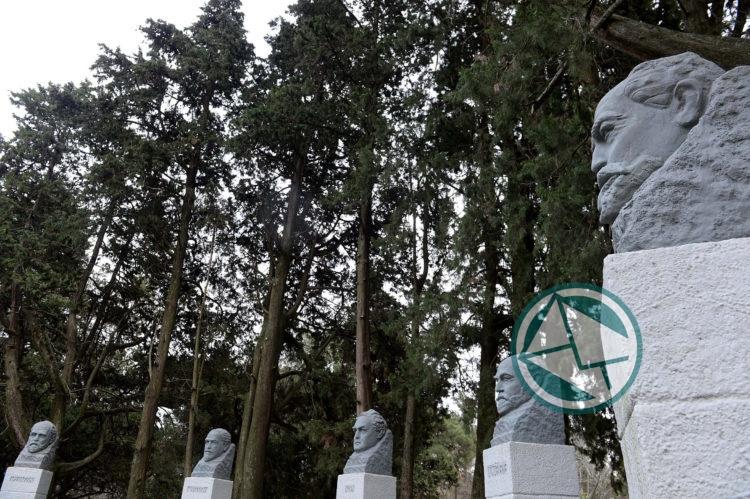 os Cinco sabios Platenses Paseo del Bosque 4