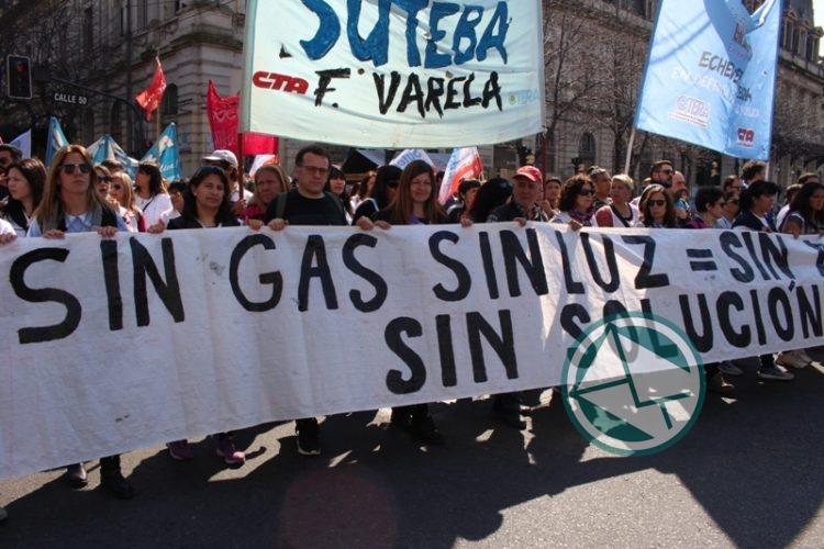 movilización Frente de Unidad Docente, LdeS La Plata 6
