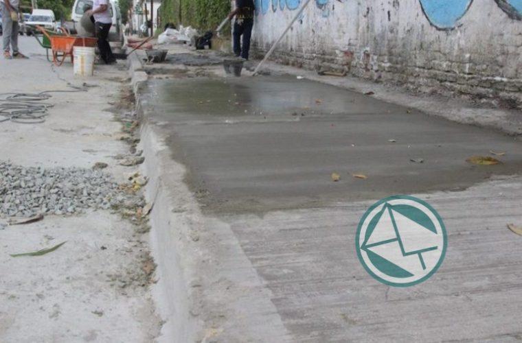 Renovación de veredas en el barrio El Dique 1