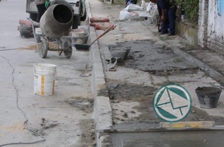 Renovación de veredas en el barrio El Dique 2