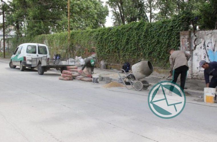 Renovación de veredas en el barrio El Dique 3