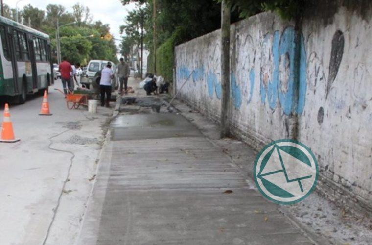Renovación de veredas en el barrio El Dique 4