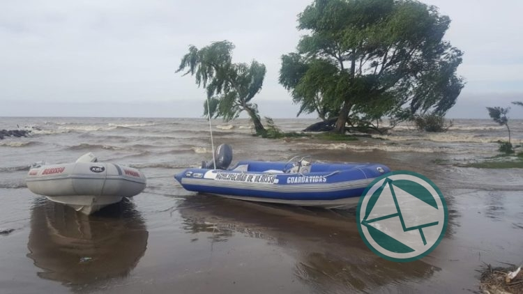 Operativo ante la crecida del Río de La Plata en la zona de Berisso 4