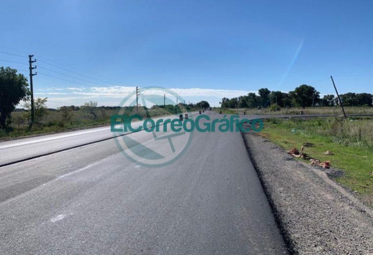 Avanzan los trabajos de repavimentación sobre la Ruta Provincial 11 03