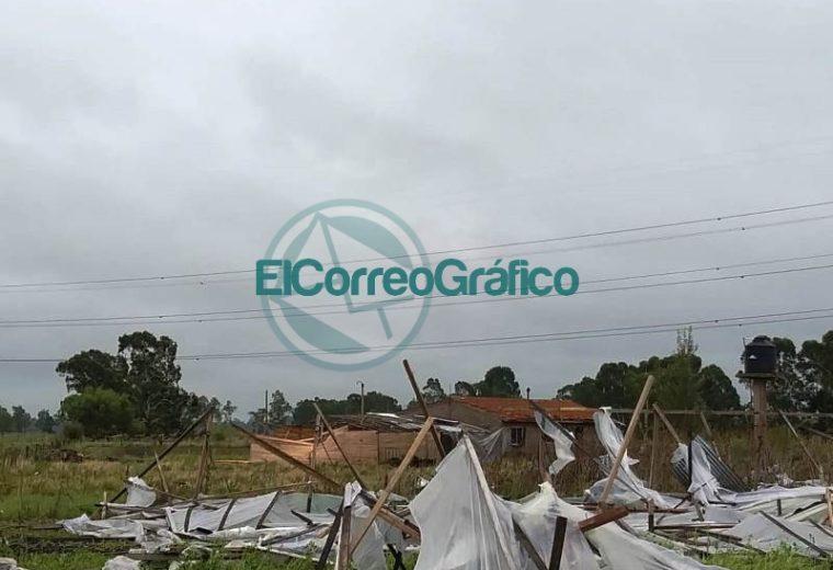El temporal dejó sin nada a los productores del cordón frutihortícola 1