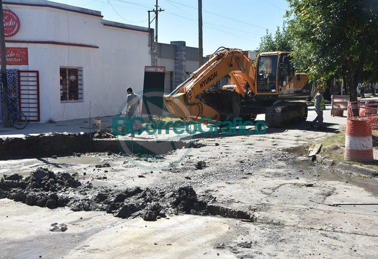 Progreso de bacheo sobre calle 164 de Berisso 04