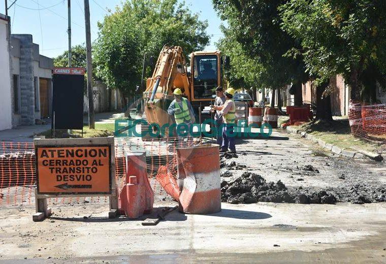 Progreso de bacheo sobre calle 164 de Berisso 05