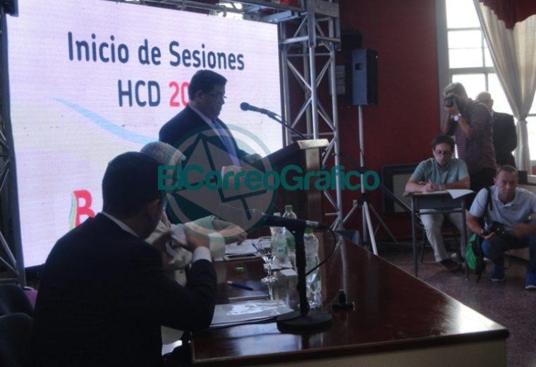 Nedela hizo hincapié en sus 38 meses de gestión en el discurso inaugural del Concejo Deliberante 03