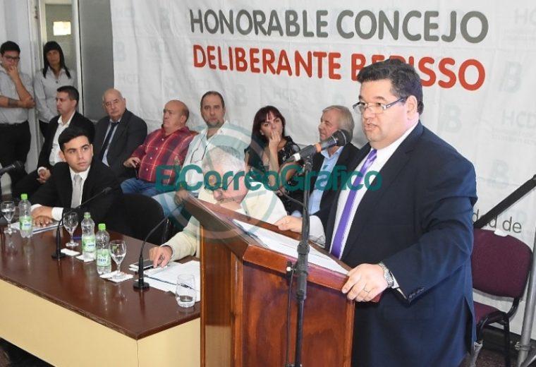 Nedela hizo hincapié en sus 38 meses de gestión en el discurso inaugural del Concejo Deliberante 10