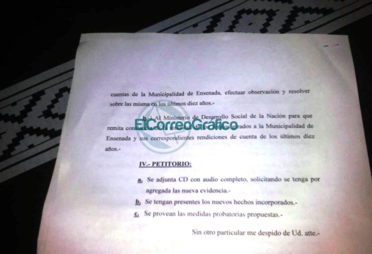 Ampliación de denuncia penal contra Secco y Schneider 4