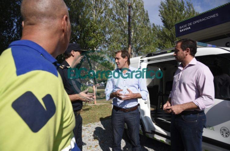 Garro visitó la Base Operativa de la Policía Local en el barrio Savoia 1
