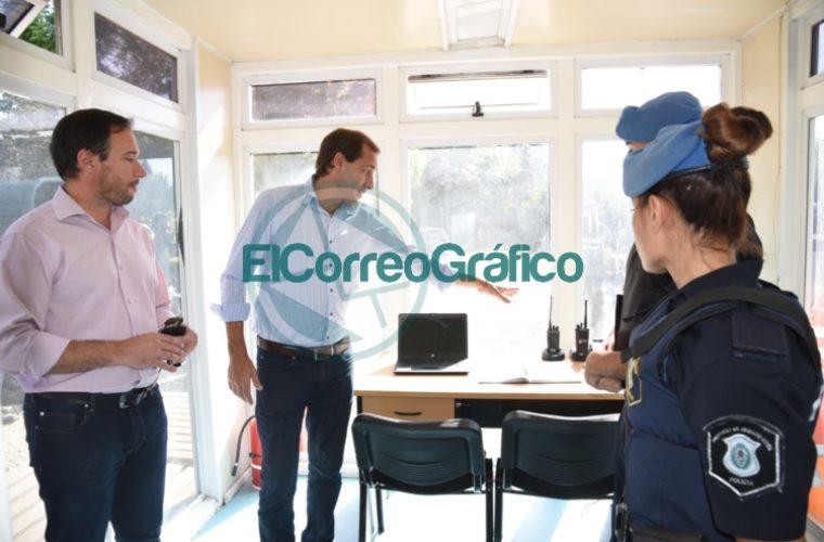Garro visitó la Base Operativa de la Policía Local en el barrio Savoia 3