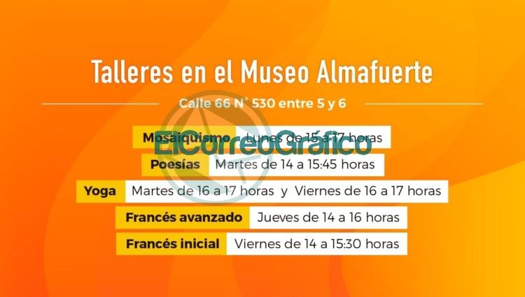 """Los museos municipales """"Almafuerte"""" y """"Dardo Rocha"""" dictarán diversos cursos anuales 0"""
