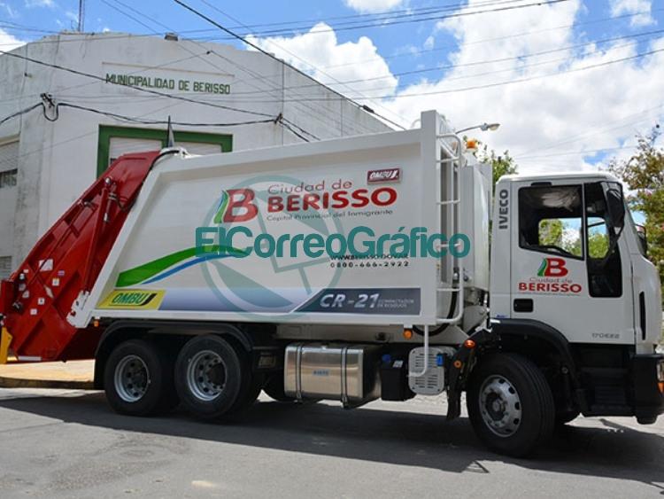 Camión de recolección de residuos habituales Berisso