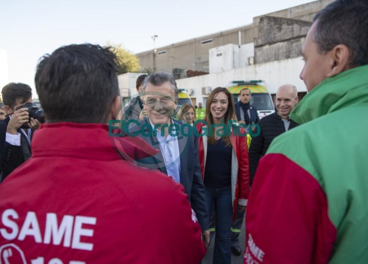Vidal, Macri y Larreta estuvieron paseando por el renovado COM de Lanús 0