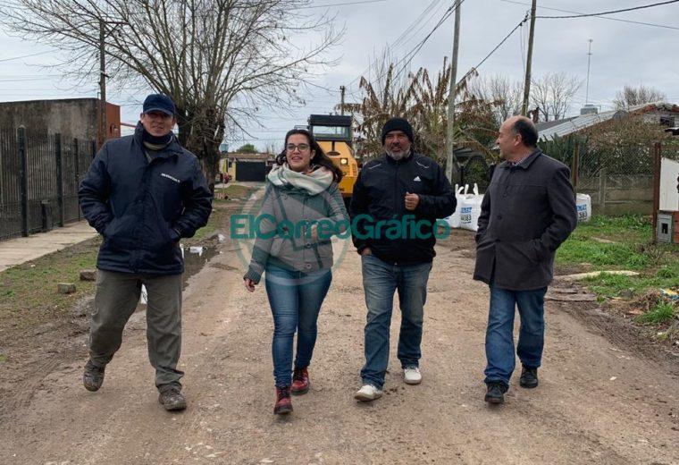 El concejal Novelino recorrió el mejoramiento de la calle 167 del Barrio Obrero 6