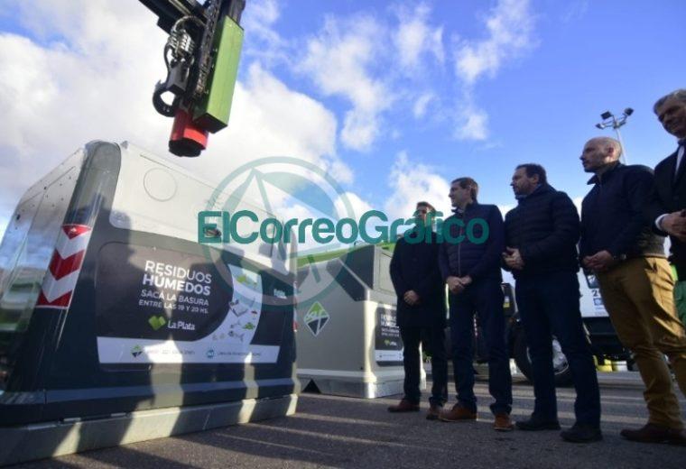Garro presentó el nuevo sistema de contenedores de basura 1