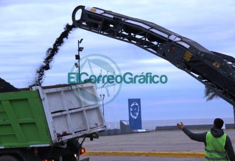 Comenzaron los trabajos de fresado para repavimentar la Avenida Almirante Brown en Punta Lara 1