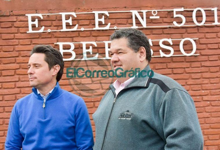 Nedela con Sánchez Zinny visitaron la Escuela 501 del Barrio Obrero 04
