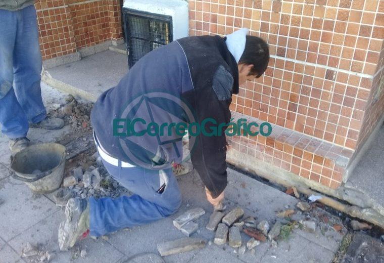 Trabajos de mantenimiento en el Sindicato de Municipales y en su Camping 4