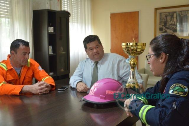 Nedela recibió a los bomberos que participaron del VIII Desafío de Habilidades Bomberiles 1