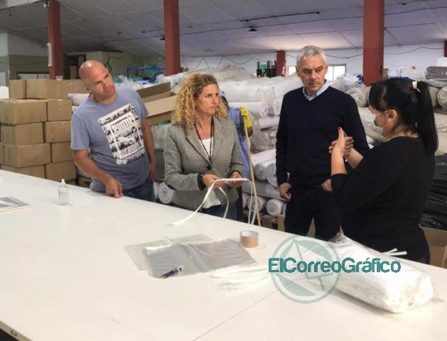 Cagliardi con la directora de Desarrollo Regional recorrieron el Sector Industrial Planificado 2