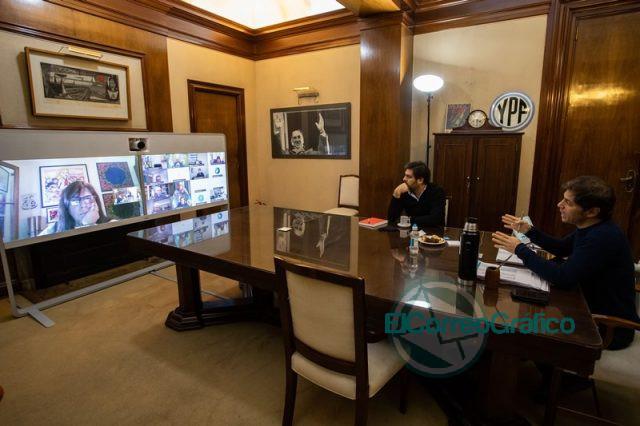 Kicillof mantuvo una reunión con intendentes del AMBA por la nueva etapa de aislamiento social 0