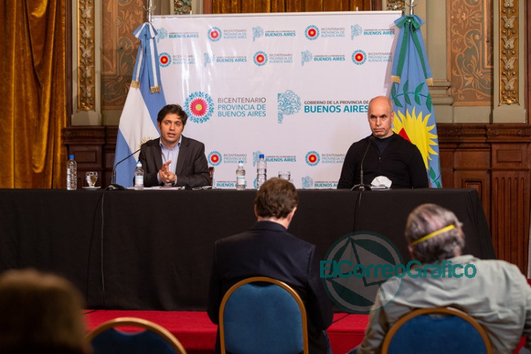 Kicillof y Larreta brindaron detalles de la reunión de la mesa técnica del AMBA 0