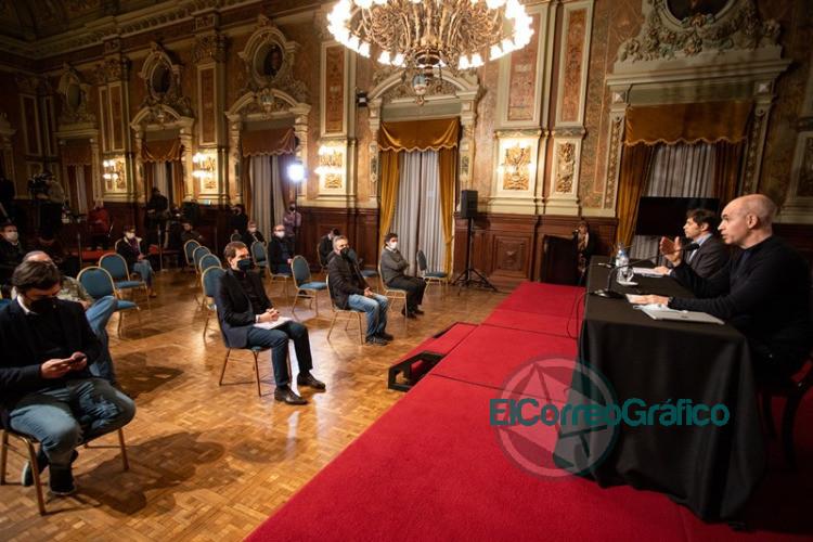 Kicillof y Larreta brindaron detalles de la reunión de la mesa técnica del AMBA 1