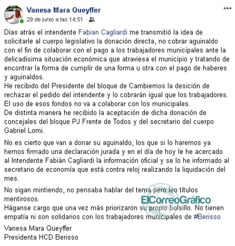 """Patrañas del Concejo Deliberante: El medio aguinaldo no lo donaría """"Todos"""" los ediles 0"""