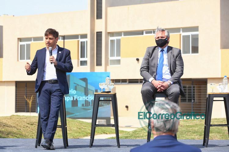Kicillof junto a Fernández entregaron viviendas del Procrear 2