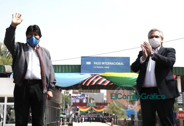 Fernández despidió a exilidado político de Evo Morales en La Quiaca 0