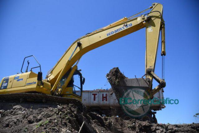 Tras el desalojo del predio, retoman la construcción del retén hídrico en Los Hornos 1