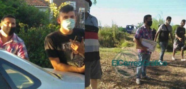 Desalojo violento con «gente de Secco» en un campo de Punta Lara 0