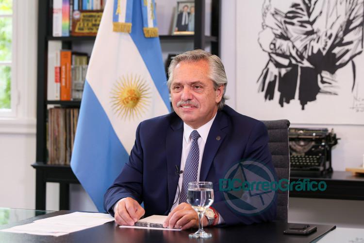 Alberto Fernandez en el Foro Economico Mundial de Davos 2021