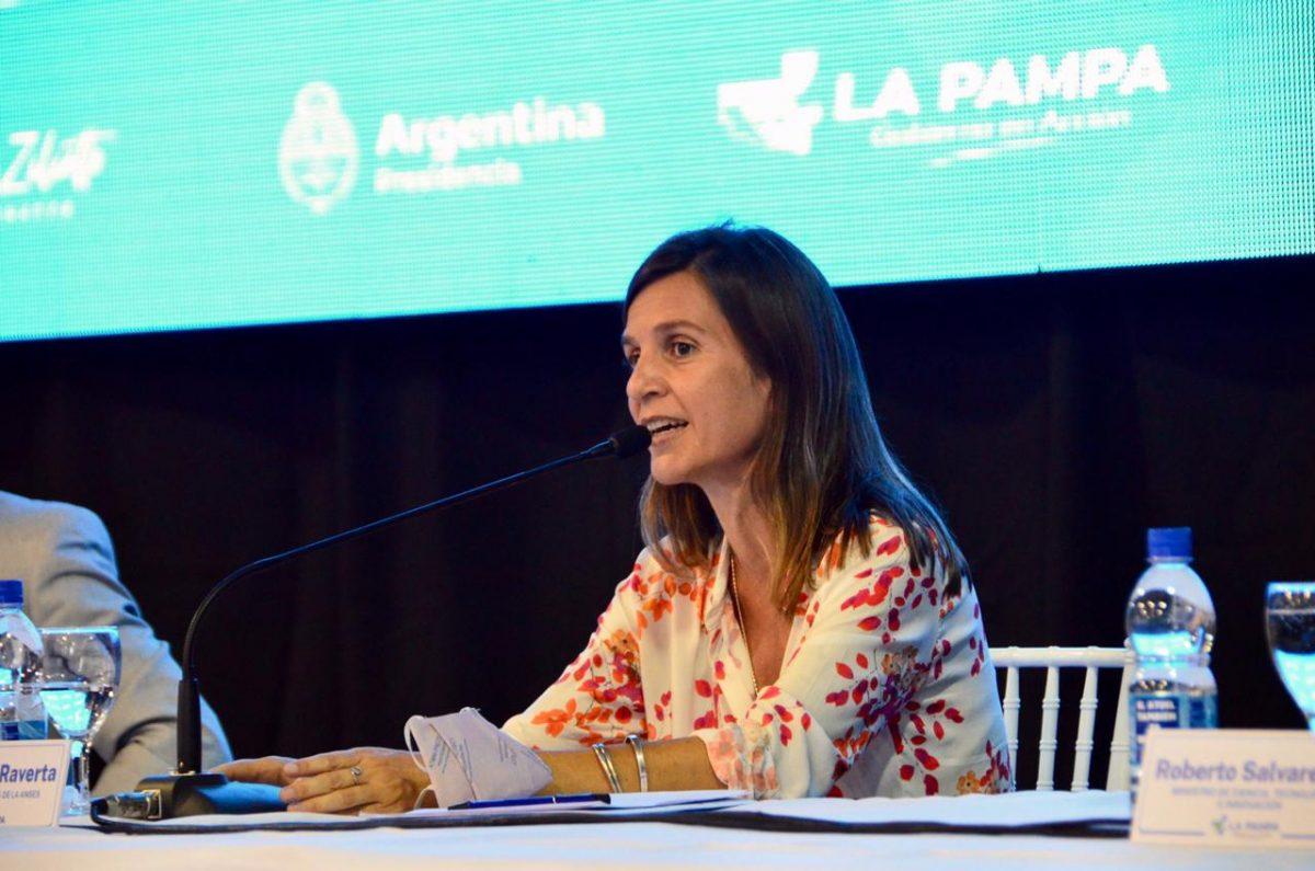 Fernanda Raverta en La Pampa