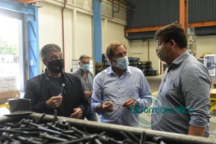 Garro y Jorge Macri pasearon por unafabrica y piensan en como hacer crecer la Provincia 1