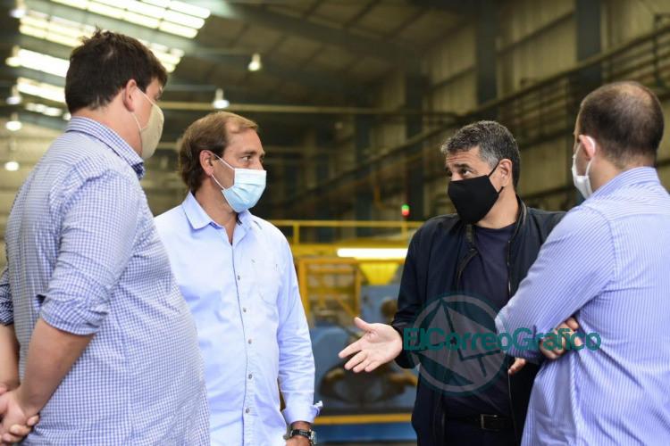 Garro y Jorge Macri pasearon por unafabrica y piensan en como hacer crecer la Provincia 3